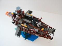 Steampunk Sub Above (Tim Lydy) Tags: penguin lego submarine batman steampunk
