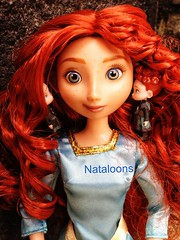 Wee devils whispering in me ears (Nataloons) Tags: red classic boys hair scotland store doll devils like scottish disney more hubert merida bow pixar brave wee arrow celtic harris triplets hamish archer kilts triplet
