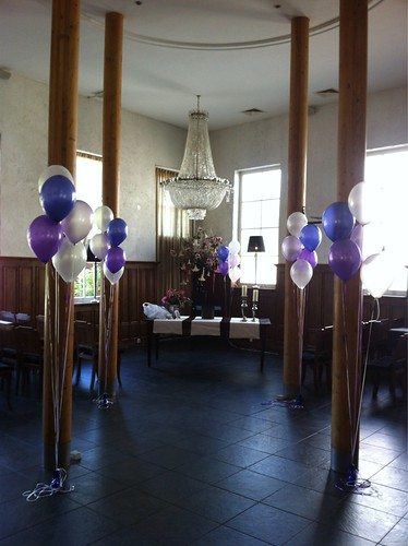 Tafeldecoratie 5ballonnen Het Koetshuis Rotterdam