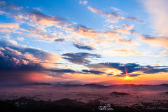 KiNg Of AtHeNs (MRPittsP) Tags: sea sky sun canon landscape photography king sunsets athens greece t3i 600d ymittos mrpittsp