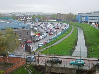 The River Leen - Has a channeled course through the Nottingham Queen's Medical Centre - 2010