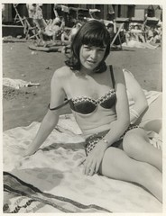 1960s - Beach Girl (TempusVolat) Tags: old sea blackandwhite bw woman white black beach girl monochrome beautiful beauty female strand vintage mono blackwhite seaside interesting sand scans 60s flickr mr image scanner picture towel monochromatic scan bikini attractive scanned getty epson 1960s swinging wristwatch grayscale scanning gw gareth goodlooking sixties perfection greyscale tempus womenarebeautiful v200 morodo epsonscanner swingingsixties 60sfashion sixtiesfashion photoscanner epsonperfection strapdown volat mrmorodo garethwonfor tempusvolat