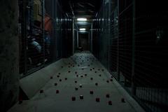 Left behind (DavidAndersson (away)) Tags: red dark floor many manga hallway mysterious block cubes plenty unexpected sigma1850f3556 fotosondag fs120610
