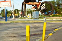 Hop (John Watson / The Radavist) Tags: street sunlight bicycle austin bmx air eastside mutiny