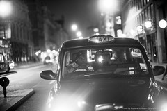 Taxi, London (jev) Tags: leica uk greatbritain london night europe britishisles unitedkingdom britain candid cab taxi streetphotography documentary rangefinder british noctilux asph urbanphotography lnd straightphotography leicam9 noctiluxm50mmf095asph leicaimages