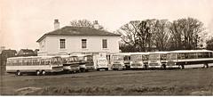 The Fleet at Straits House (B&W) (GhostOfWalterMills) Tags: walter ford bedford coach val transit bella mills straits vega viceroy gornal duple waltermillstours