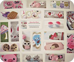 New MOO Product Mini Cards  (Sabrina Dee Berry) Tags: pink flowers blue cloud white cute bunny marketing cupcakes strawberry cookie jewelry moo businesscards kawaii owl packaging sweets products minicards smallbusiness papergoods berrysweettreats sabrinadeeberry