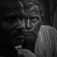 Face-Half (ayashok photography) Tags: bw man eye face blackwhite eyes nikon place funeral varanasi bnw deadbody kv kasi nikon50mm burningplace ayashok nikond300 facehalf