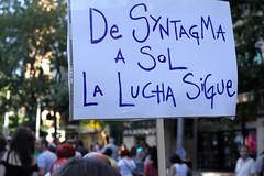 de syntagma a sol (the real duluoz) Tags: madrid españa sol bravo 16 junio murillo cajamadrid okupa syntagma rescate bankia eldíadelabestia spanishrevolution okupabankia