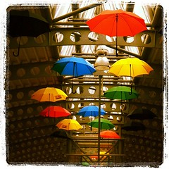 Life is ... (Grazissima) Tags: umbrella square squareformat amersfoort iphone lordkelvin urbanlifeinmetropolis iphoneography instagramapp uploaded:by=instagram amersfoortcentralstation