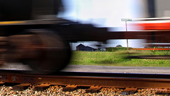 Rural blurage... (VFR Photography) Tags: railroad signs motion blur sign barn rural train ties countryside moving movement rust tank tn adams tennessee country barns rusty tie rail railway trains rusted transportation rails spike railways spikes freight tanker gravel reefer railroads ballast csx blurring buckleyroad surfacerust robertsoncounty sadlersville hendersonsubdivision bagbyroad roberstsoncounty