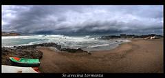 Panorama_Puertillo (Dokuo) Tags: mar playa arena cielo nubes tormenta barcas panormica puertillo nikonaw100