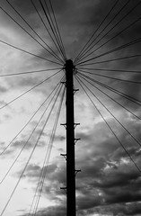 Cloud-Communication (Baalel) Tags: blackandwhite bw cloud evening telephone wires