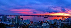 Pano: Sunset moods (peggyhr) Tags: city pink blue friends light red sky urban orange canada black yellow skyline vancouver clouds buildings wow reflections lights bc harbour pano ships cream fuschia harmony mauve barges finegold thegalaxy 50faves peggyhr heartawards iknowwhereyouare flickrawardgroup platinumheartaward 100commentgroup portmetrovancouver creativephotographeronflickr mygearandme ringexcellence blinkagain level1photographyforrecreation redgroupno1 vivalavidal1 supersixstage1~flickrbronze lookoutforpirates niceasitgets~level1 frameit~level01~ sunsetssunrisesilovethemall livingwithmultiplesclerosisms musictomyeyes~l1 sun|sky|cloud ♣myhatsofftoyou ♣scapes ♣theartisan infinitexposure p1070628a