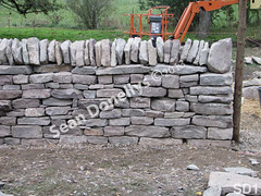 WM Sean Donellys 1, Freestanding wall, cheekend, dry laid stone construction, copyright 2014