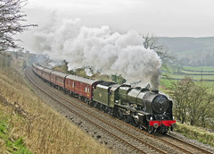 46115 Langcliffe 29-03-14 (prof@worthvalley) Tags: uk railroad all transport railway steam locomotive carlisle types scots settle guardsman 46115