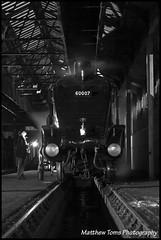 Head to head with 60007 (Matt Toms Photography) Tags: uk england london train br trains steam mallard a4 tornado didcot steamtrain gwr 2014 britishrailways didcotrailwaycentre lner 6023 60007 lineside 60163 60163tornado 60007sirnigelgresley matthewtoms 6023kingedwardii mallard75 latenightsteam 05042014