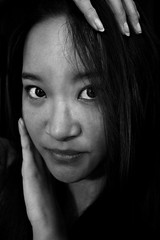 Jess (shelly.christina) Tags: portrait blackandwhite girl model blackandwhitephotography darkhair asianwoman blackandwhiteportrait portraitofawoman