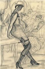 Sapho // by Boris Grigoriev (Russian, 18861939) (mike catalonian) Tags: female russia drawing fulllength figure borisgrigoriev