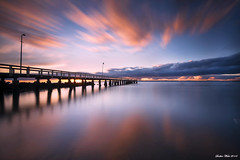 Bridge to the Horizon (Sudhir Wahi) Tags: longexposure sunrise nikon australia queensland d800 wellingtonpoint nikon1635mmlens reallyrightstufftripod