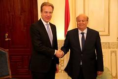 Brende og Jemens president (Utenriksdept) Tags: hadi brende jemen