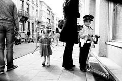 childhood joy (ElBiSt (Bianca Stoicheci)) Tags: street people blackandwhite bw monochrome childhood mono child joy streetphotography antwerpen straatfotografie