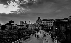 Piazza Foro Traiano, Rome (pegs_k) Tags: city italy white black rome eternal