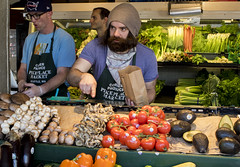 is this what you want? (.sanden.) Tags: seattle portrait man men hat bag paper beard mushrooms glasses store tomatoes guys apron cap wa produce carrots 24mm pikeplace job celery occupation avocados 2470mm canon7dmarkii