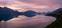 Lake Wakatipu Sunset Panorama (Panorama Paul) Tags: sunset newzealand panorama reflections queenstown pigeonisland lakewakatipu glenorchy bennettsbluff mountearnslaw pigisland nikkorlenses nikfilters nikond800 wwwpaulbruinscoza paulbruinsphotography