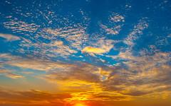 October Sky (trnchsr1984) Tags: sunset sky orange colors october texas fort dusk vivid worth lue