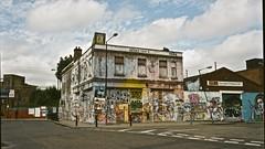 Lord Napier, Hackney Wick (I M Roberts) Tags: mediumformat graffiti urbanart eastlondon hackneywick urbansetting mamiya7 lordnapier