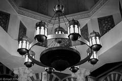 The hanging art of lights... (EHA73) Tags: leica nightphotography blackandwhite bw art monochrome lights dubai uae chandelier shoppingcenter ibnbattoutamall leicamm aposummicronm1250asph typ246