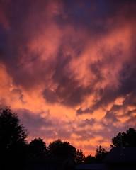 Skies alive, Pt. 2 (Dan Fleury) Tags: sunset sky storm clouds warm looming