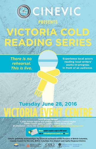Victoria Cold Reading Series - June 28, 2016