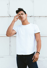 Photo Shoot : Andre (jkc.photos) Tags: street white man male fashion model photoshoot casual tee