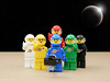 Selfie-stick. New Crew (billyburg) Tags: blue red mars sun moon white black green yellow lego space astronaut spaceman benny stick exploration lunar outpost selfie geological spacewoman selfiestick