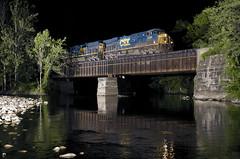 Westfield River (a409will) Tags: railroad night river massachusetts trains strobe csx csxt strobist