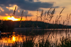 Flare (david_sharo) Tags: sunset lake clouds landscape moraine waterscape davidsharo