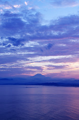 Blue silhouette Mt.Fuji (Shiger Miy) Tags: mountain nature beautiful japan landscape japanese twilight mtfuji earlysummer twilighttime
