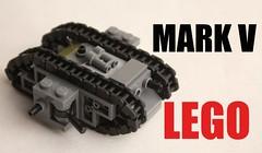 micro lego MARK V (mrripleyx) Tags: lego tank ww micro