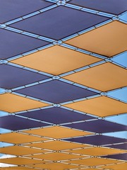 Sunshades (Percption is your reality) Tags: sky sun mall shopping spain colours shade symmetrical torrevieja