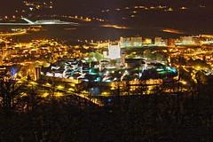 Ciudadela de Bragana nocturna (hector.terrer) Tags: castle portugal castelo nocturna muralla castillo hdr bragana largaexposicin ciudadelas