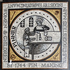"""Gloucester, Northgate Street - street mosaic commemorating pin making and the """"Pinner"""" (Biffo1944) Tags: mosaic gloucester pinner street making pin northgate"""