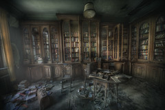 library ghosts  : (andre govia.) Tags: wood light house building abandoned buildings book decay library books case andre creepy explore porn horror ghosts dust manor ue govia