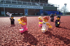 Qualifying for the Olympics (Paranoid from suffolk) Tags: race athletics lego stadium minifigs olympics ipswich 2012 qualifiers minifigures