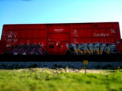 Catalyst (+PR+) Tags: railroad streetart chicago graffiti trains railfan freight boxcars railcars sry catalyst southernrailway rollingstock rxr benching kamit rekd