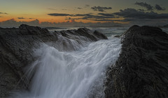 It`ll End in Tears ! (bigvern1263) Tags: sun white black art water sunrise flow rocks australia lee queensland filters currumbin lucis seq