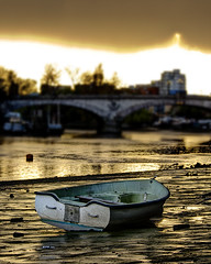 London 2012 April 17th (violinconcertono3) Tags: sunset orange london rain thames clouds landscapes boat flickr unitedkingdom fineart cityscapes lowtide mudflats fineartphotography davidhenderson kewbridge londonist fineartphotographer londonphotographer 19sixty3 19sixty3com