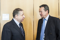 Jean Todt and Ivan Hodac at the Ministers' Roundtable