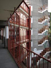 Chorweiler (schromann) Tags: tower concrete stair cologne social köln expressionist housing gottfried beton brut wohnen böhm wohnanlage stairtower treppenturm 20120429